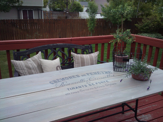 $20 patio table redo from