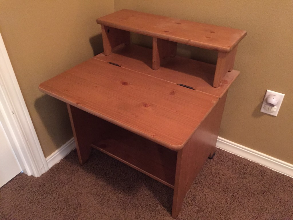 Kid's Ikea Desk Before Paint Job