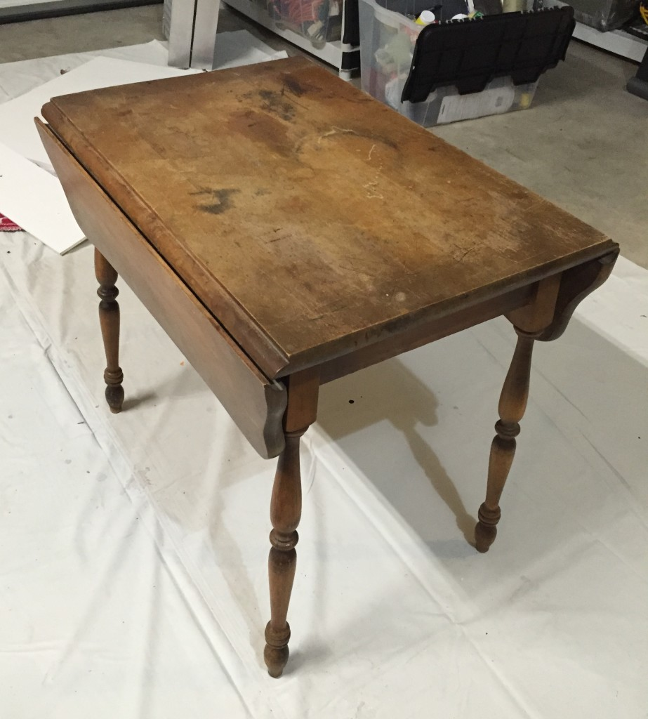 Drop leaf table before refinishing
