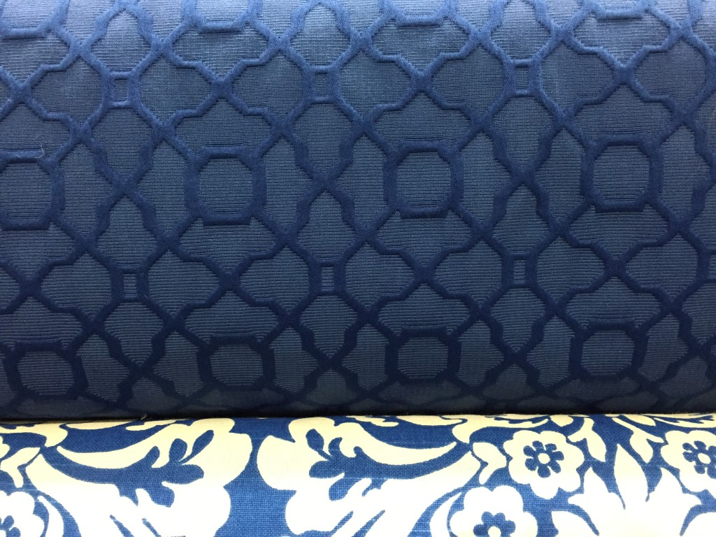 American Federal fabric pattern in blue