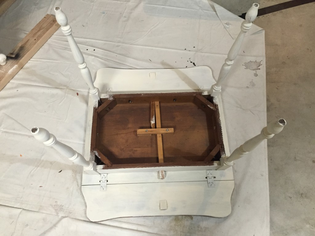 Painting drop leaf side table