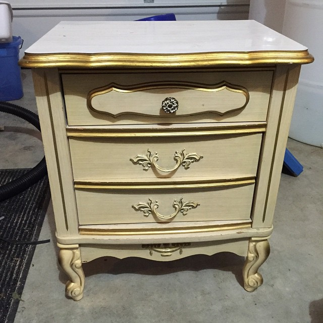 French Provincial Nightstand - Before