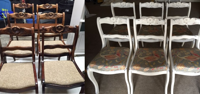 Reupholstering Vintage Duncan Phyfe Chairs