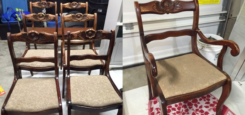 Painting and Distressing Duncan Phyfe Chairs